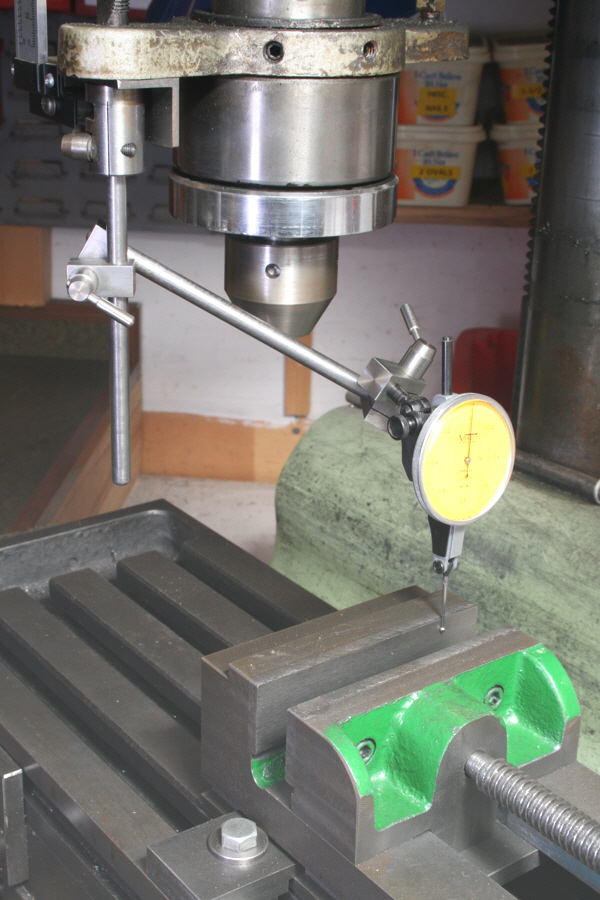 Dial Indicator Mounting In Collet : Dial indicator and test using