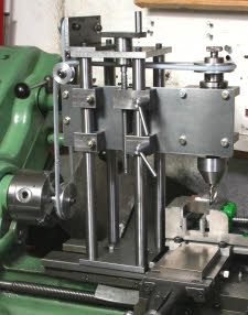 Lathe mounted milling head