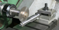 Slitting Saw, using on the lathe.