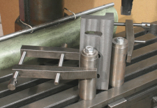 Angle Plate, machining, using a cylindrical square