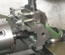 Toolmakers vice, being machined on a vertical slide.