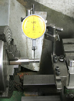 Dial Test Indicator, Four jaw chuck, positioning workpiece