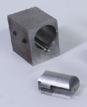 Part drilled using a drilling jig